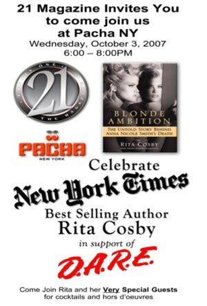 Rita Cosby's Book Party Tonight: Awkward!