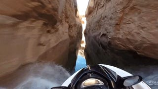 Jet skiing through a canyon looks a lot like podracing in <em>Star Wars</em>