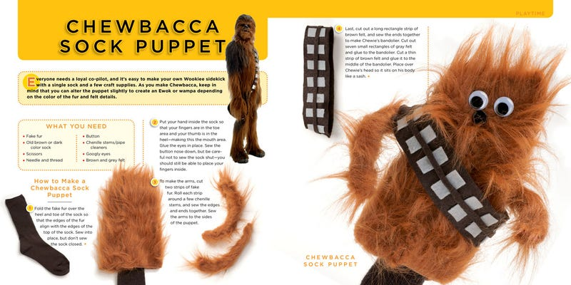 This weekend, make a Chewie sock puppet with The Star Wars Craft Book