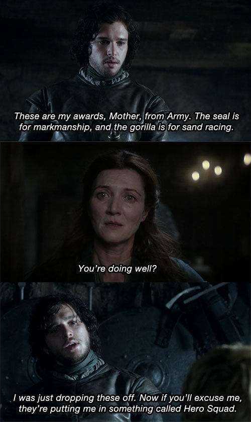 Game of Thrones Scenes + Arrested Development Quotes = Pure Magic