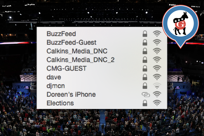 All the WiFi Networks I Can't Join in the DNC Media Tent