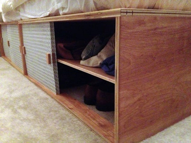 How to build a modern space saving box bed - How to build a modern bed frame ...