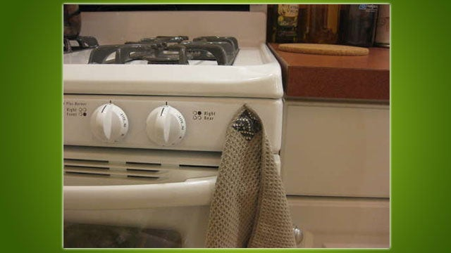 DIY Magnetic Towels Hang on Your Appliances, No Hooks Required