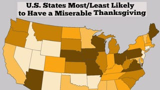 Which states have the worst thanksgiving?