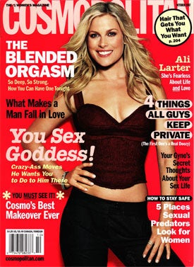 'Cosmo' Cover Girl Ali Larter: Self-Involved, Stubborn, Easily Distracted