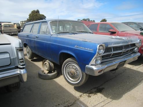 1966 Fairlane Wagon Appears To Have Driven To Junkyard Under Its Own Power