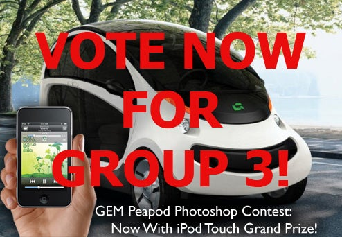 GEM Peapod Photoshop Contest, Rock The Vote: Round One, Group Three