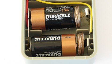 Turn a C battery into a D with quarters