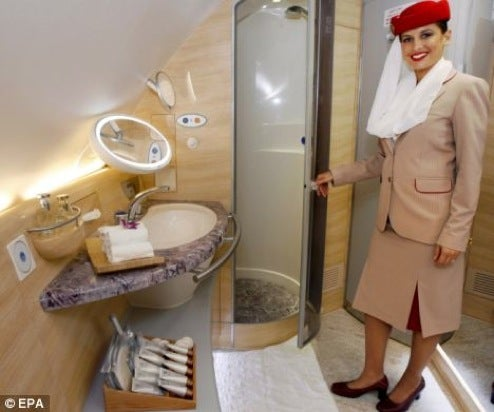 Photos Emerge of Emirates A380 Showers: Tiny, But Luxurious