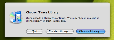 Multiple libraries in iTunes 7