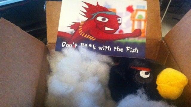 Furious Fish Beats Angry Bird