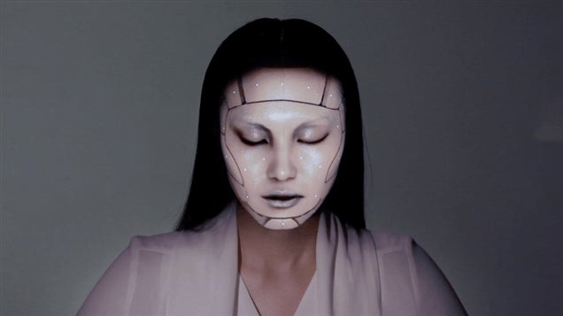 Computers, Lasers Turn Real Human Into Scary Robot