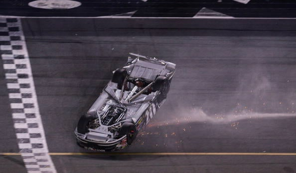 Daytona 500 After-Party: Clint Bowyer Makes Driving Upside Down Look Easy