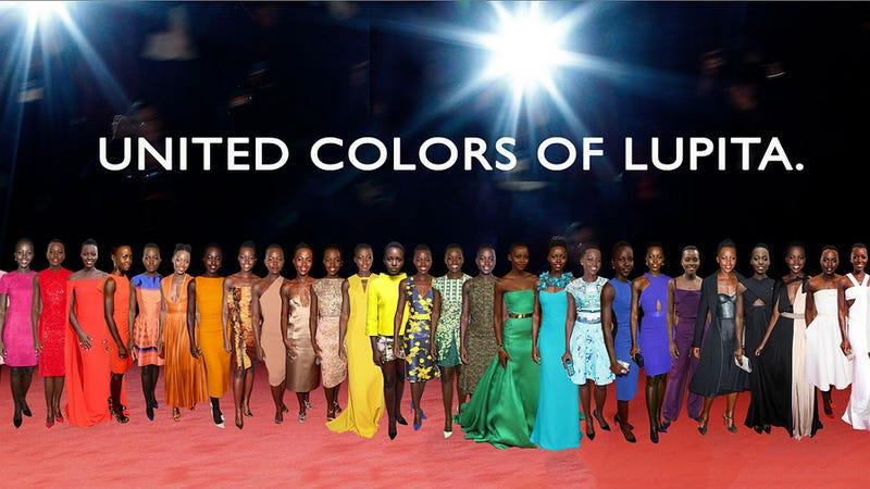 This Lupita Nyong'o Fashion Rainbow Is Pretty Fantastic