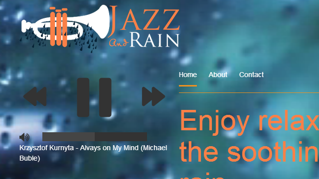 Jazz And Rain Plays the Most Soothing of Sounds While You Work