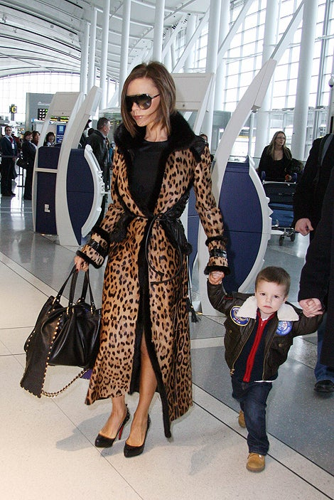 Spotted, Literally: Posh & Little Cruz At The Airport