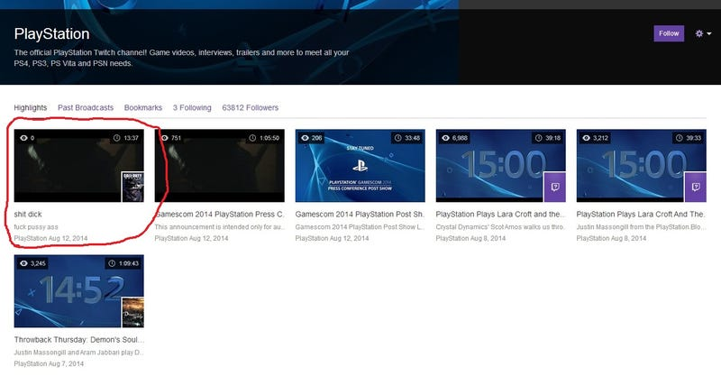 PlayStation's Twitch Channel Is A Little... Inappropriate