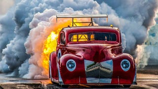 The Nuttiest Photo Of A Jet-Powered Vintage Fire Truck You May Ever See
