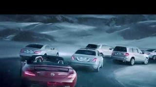 Very excited for the ferrari f12 nart spyder for Mercedes benz christmas commercial