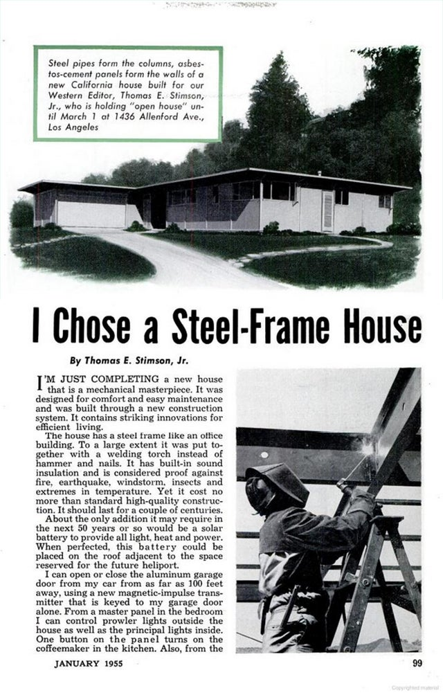 Buy Popular Mechanics' 1955 House of the Future For Only $1.8 Million