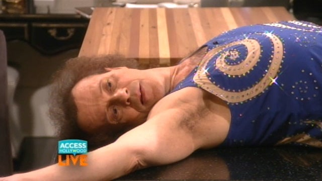 Here's Richard Simmons Going Off the Rails on Live TV This Morning