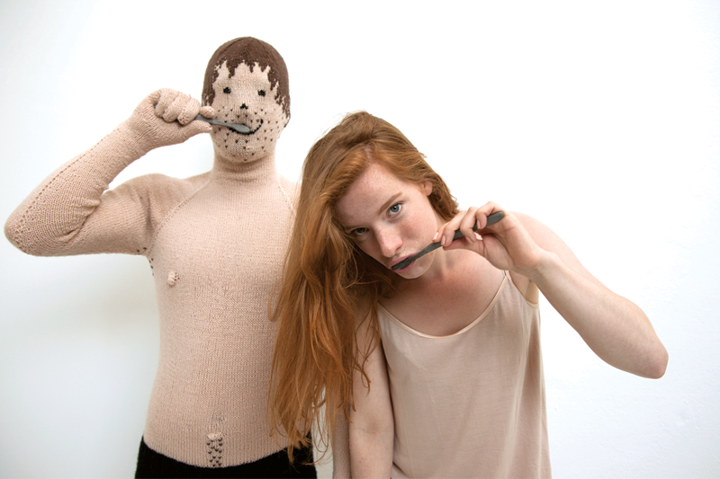 My Knitted Boyfriend means you'll always have someone to cuddle with