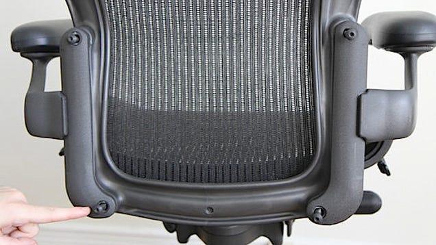 how to fix a broken office chair arm