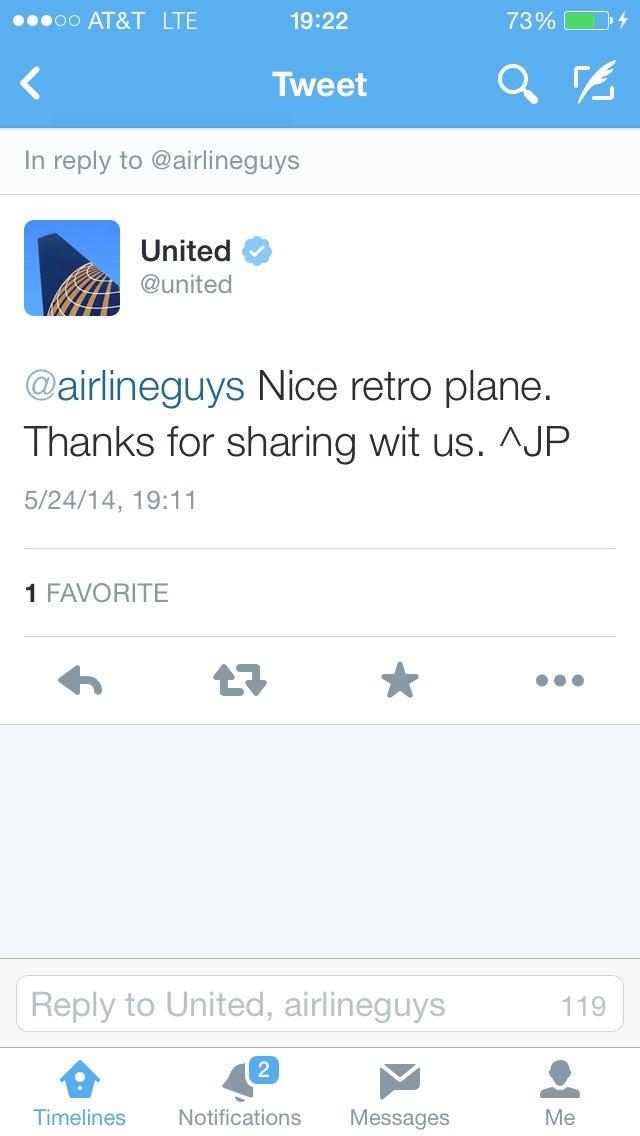 Nice, @United...