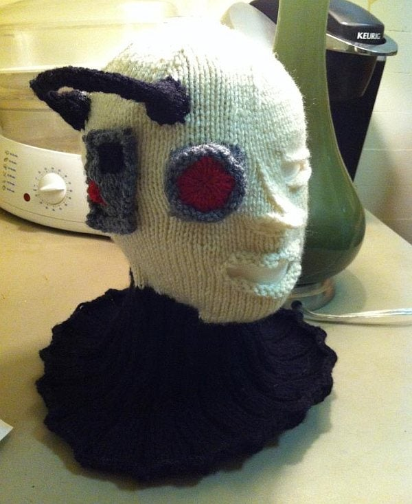 Resist cold weather with this creepy knitted Borg mask