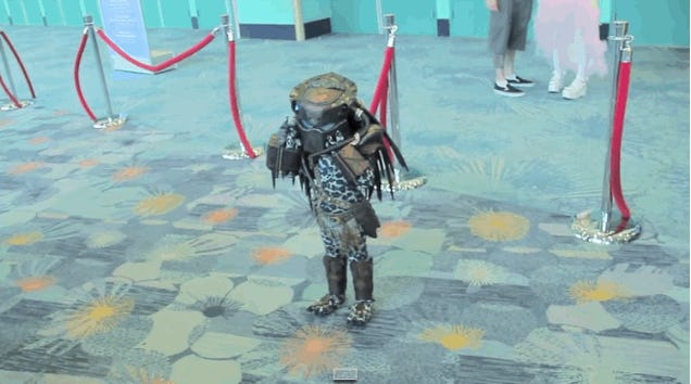 Surprise! There's A Baby In This Tiny Predator Costume!
