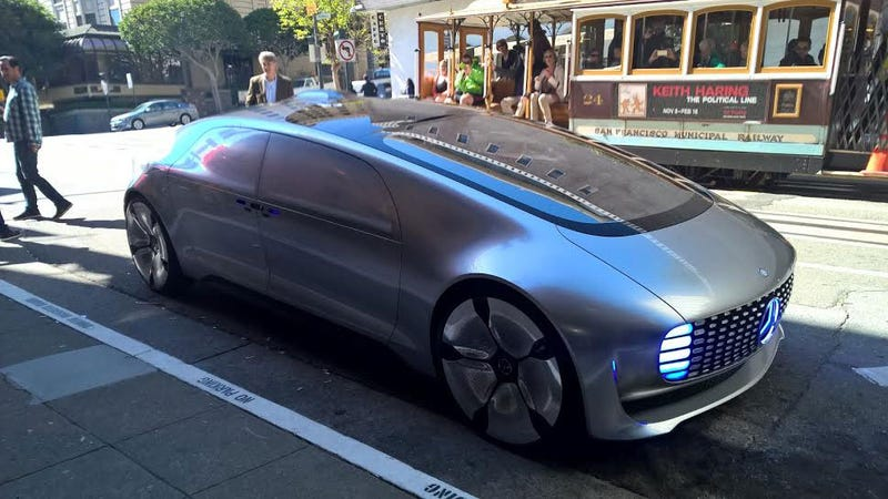 mercedes self driving car seems to have gone rogue in san francisco. Black Bedroom Furniture Sets. Home Design Ideas