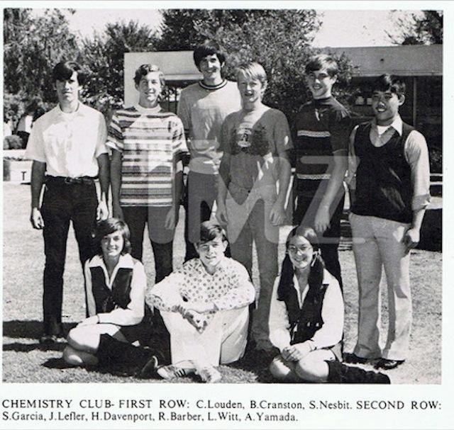 Found: Bryan Cranston's High School Chemistry Club Yearbook Photo
