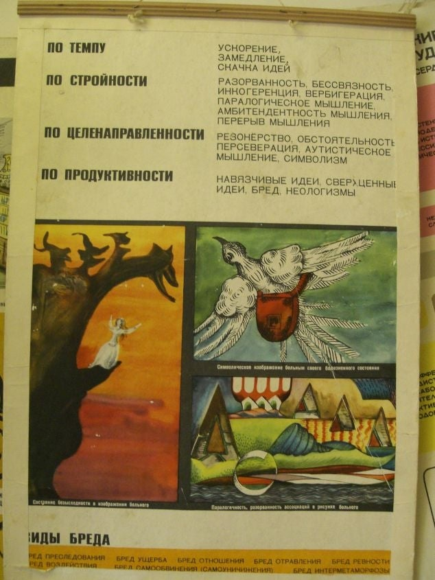 Vintage Soviet mental hospital posters are somewhat terrifying