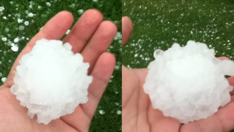 This Dallas Baseball-Sized Hail Can Kill You (Updated With Video)