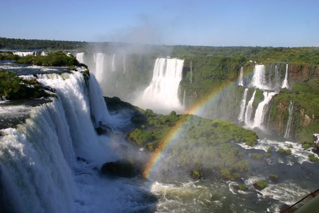 The Iguazú Falls overflow in flood of biblical proportions