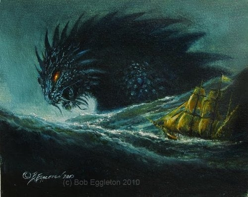 Godzilla Battles Sea Monsters And Dragons, For The Sake Of Art