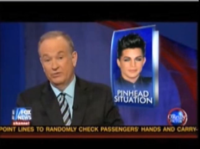 Bill O'Reilly Hearts Adam Lambert