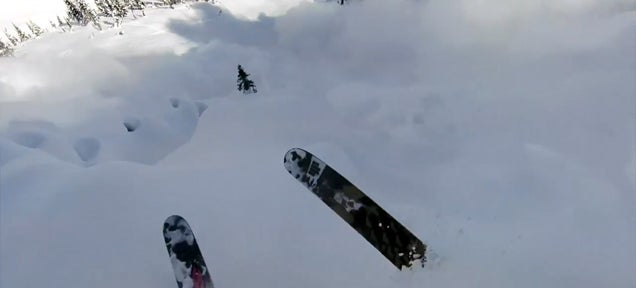 Avalanche smashes a skier in scary helmet cam video