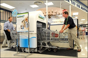 Shopping Cart Washing Machine Ensures at Least One Thing in the Grocery Store is Safe to Put in Your Mouth