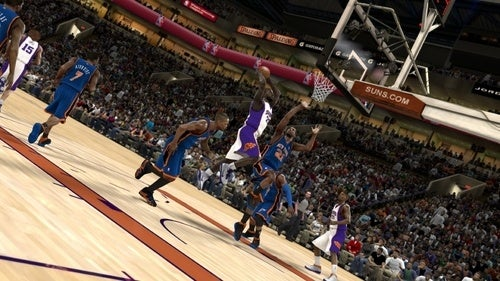 NBA 2K11 Jordan and Game Action Screens
