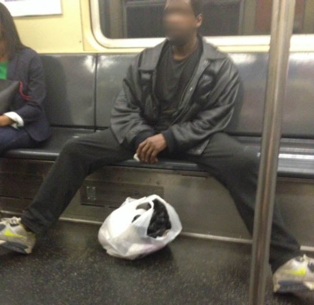 This Has Got to Be the Worst Case of Male Subway Stance Ever