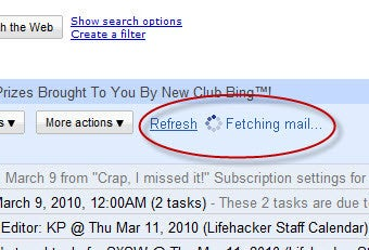 Manually Refresh POP Mail Fetching in Gmail
