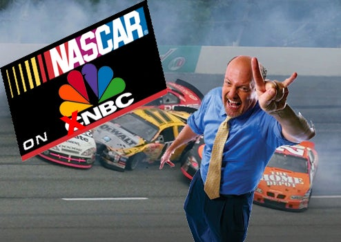 "CNBC's Jim Cramer Goes To NASCAR, Teaches Fans To Say ""BOOYAH!"""