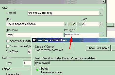 Recover Forgotten Passwords with Snadboy's Revelation