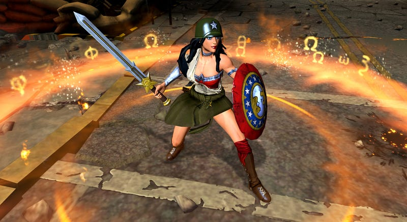 New WWII And Mecha-Wonder Woman Costumes For Infinite Crisis