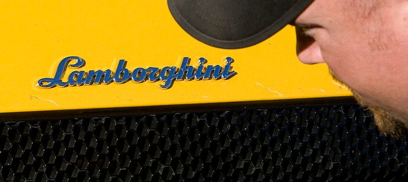 Yokels Molest Crashed Lamborghini