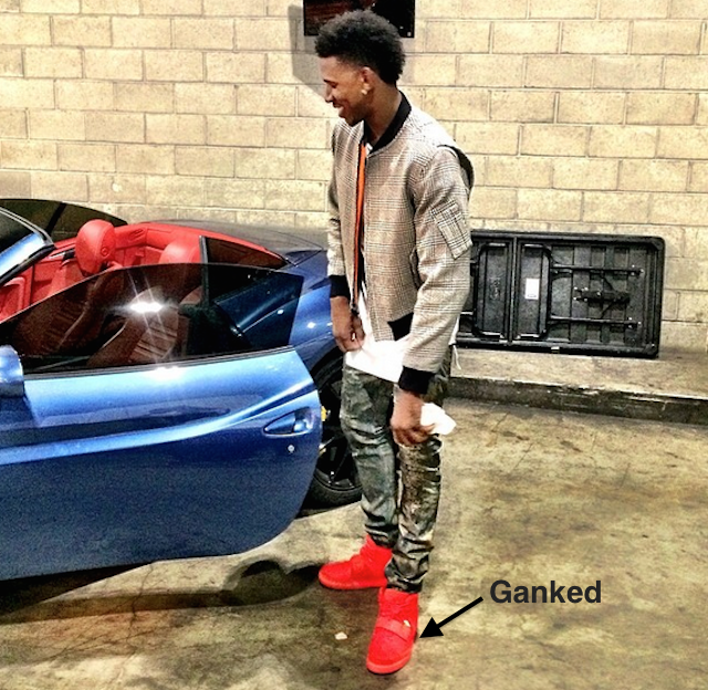 Someone Stole Nick Young's Yeezys