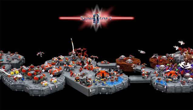 Fans Build 14 Feet ofStarCraft IIin LEGO