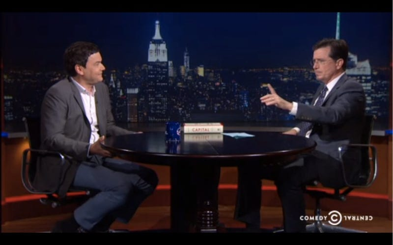 "Stephen Colbert Interviews ""King Merde of Economics"" Thomas Piketty"
