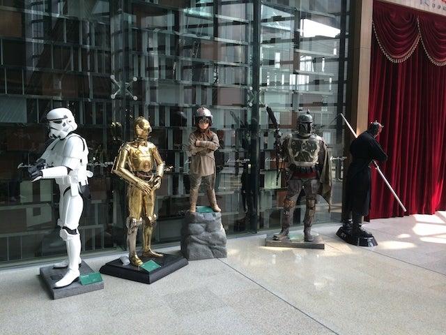 Robots, Modern Art, Star Wars Collide in Beijing's Glass Pyramid